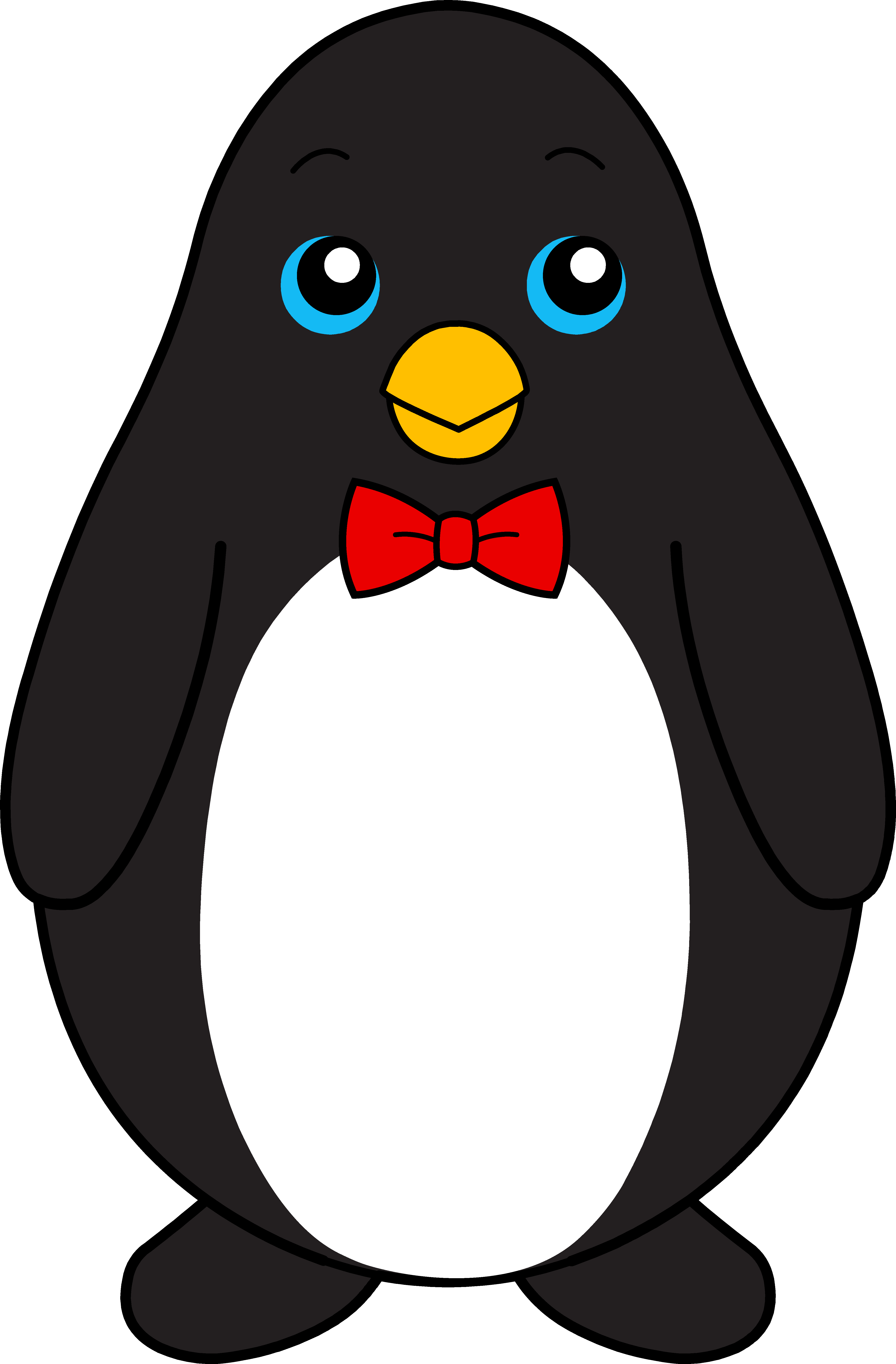 Penguin clipart cute Red Art Art Free Clip