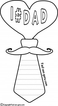 Tie clipart coloring page Printable pages print day #dad