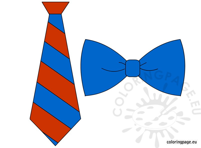 Tie clipart coloring page Tie Coloring bow tie Share: