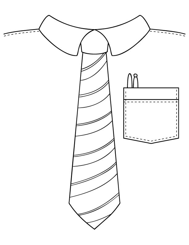Tie clipart coloring page Coloring #father'sday Coloring on for
