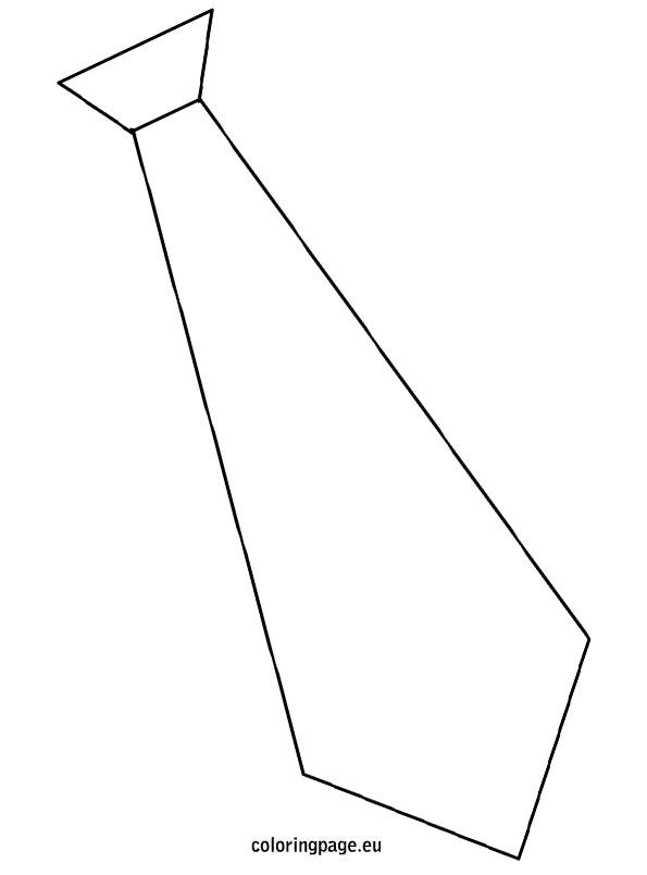 Tie clipart coloring page Tie tie Craft Father Page