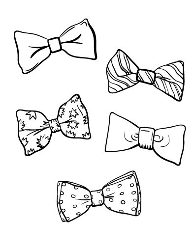 Tie clipart coloring page ColoringCafe com bow Free at