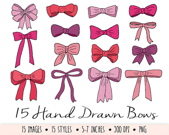Tie clipart drawn Day Hand Doodle Bows Art
