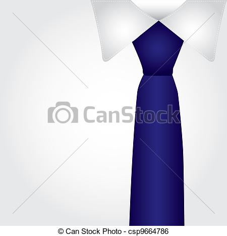 Tie clipart formal Blue tie of vector with