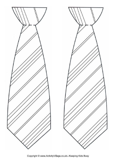 Tie clipart harry potter  Striped Tie Template