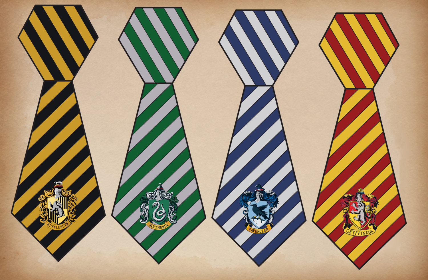 Tie clipart hogwarts Potter Harry House Etsy Potter