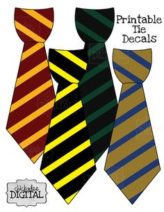 Tie clipart hogwarts Printable Decal On Potter Ties!