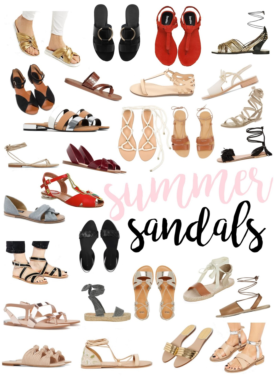Tie clipart june summer RED ROUND LEATHER GOLD SANDALS
