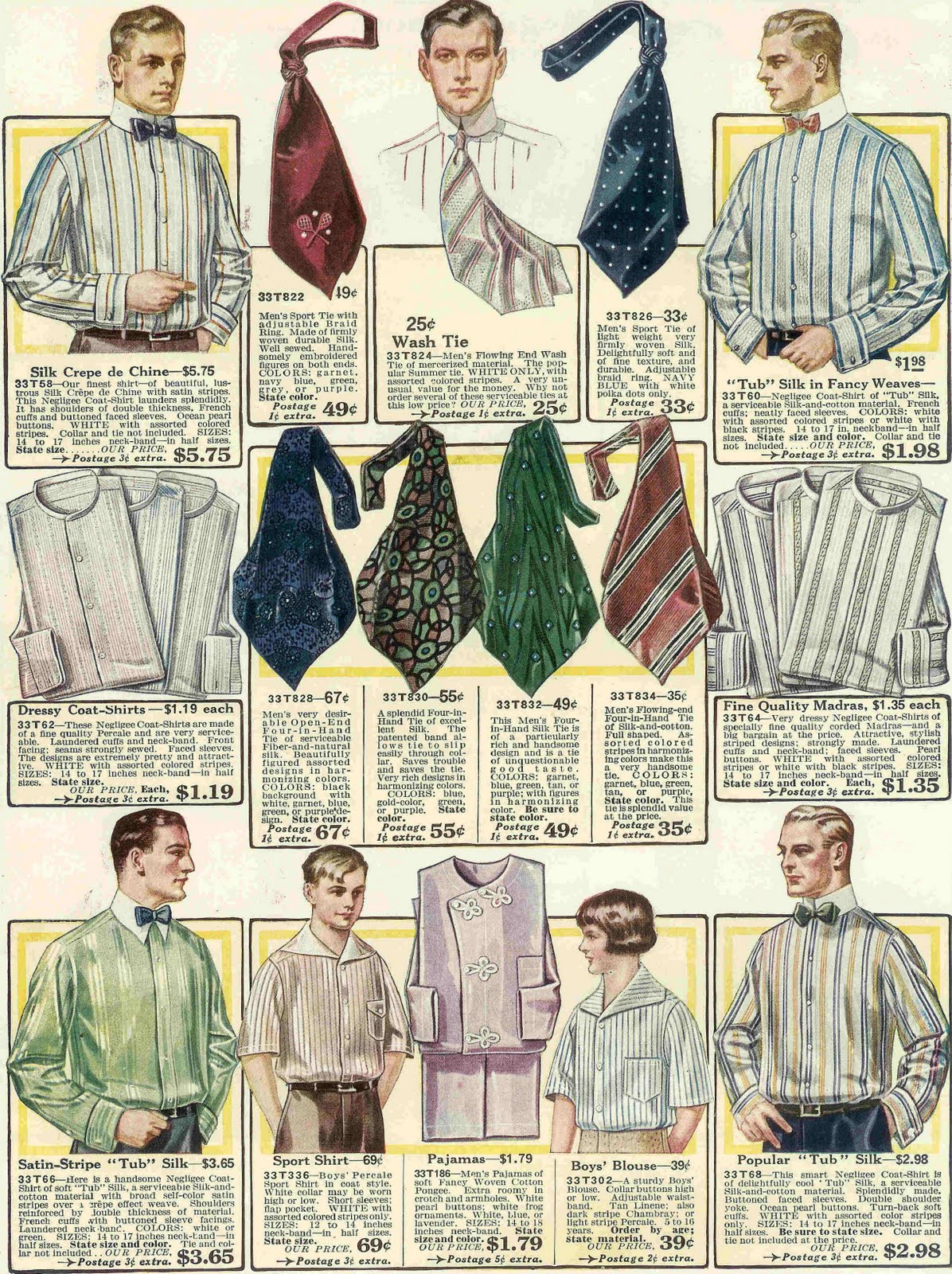 Tie clipart men's clothing Clothes Clothes 1917 Fashion from