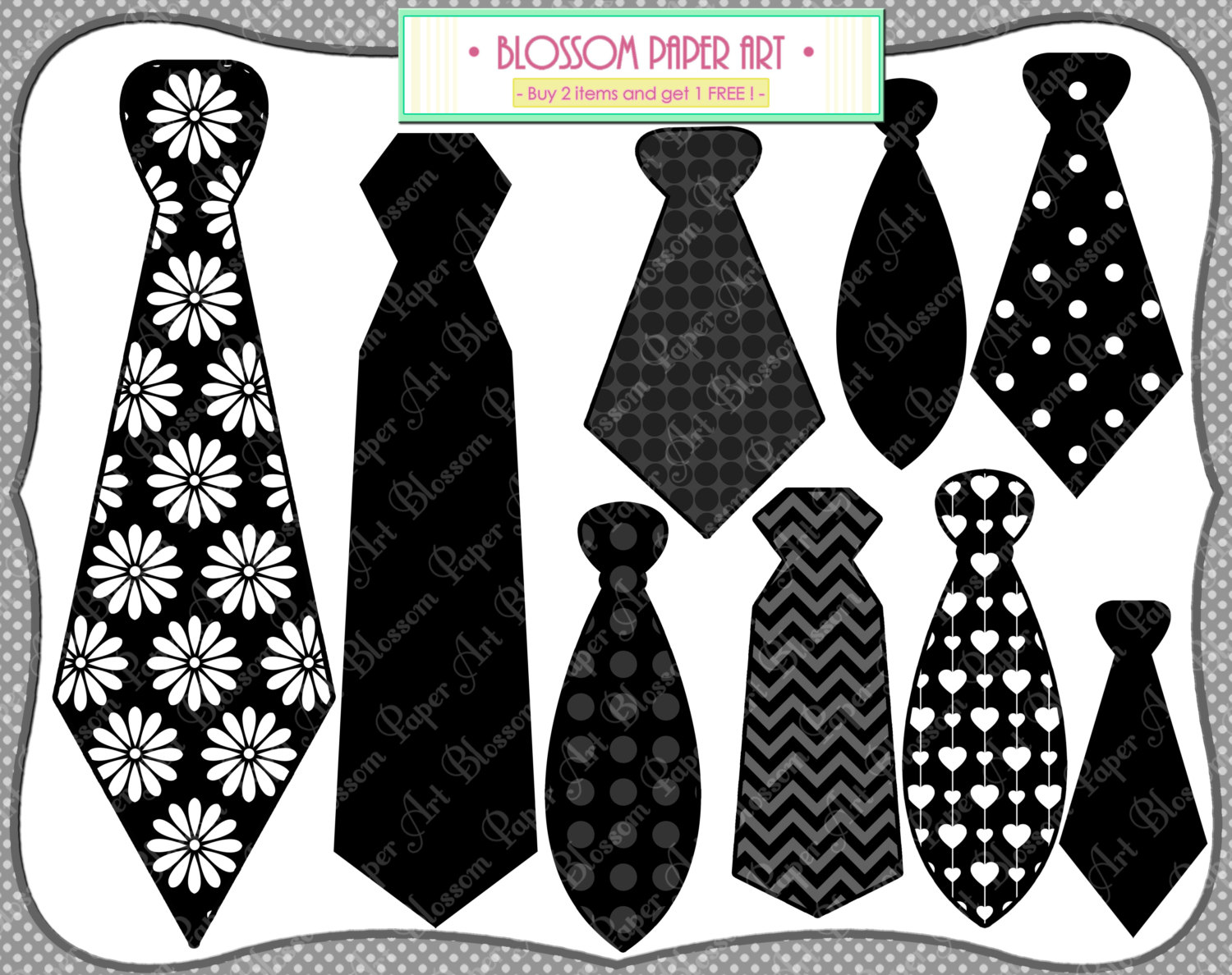 Tie clipart photo booth prop Printable Ties item? DIY this