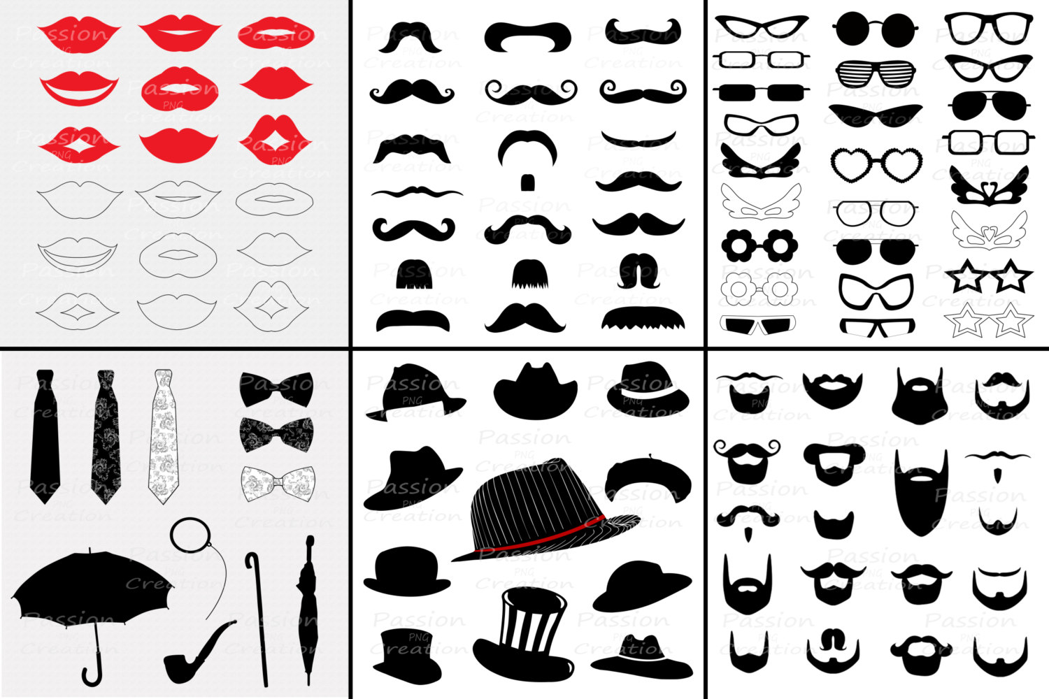Tie clipart photo booth prop Clipart booth BIG Props hat