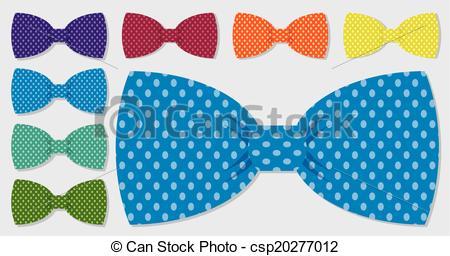 Tie clipart polka dot tie Dot in bow csp20277012 vector