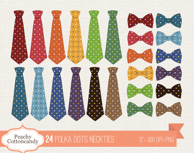 Tie clipart polka dot tie Neckties BUY a 1 FREE