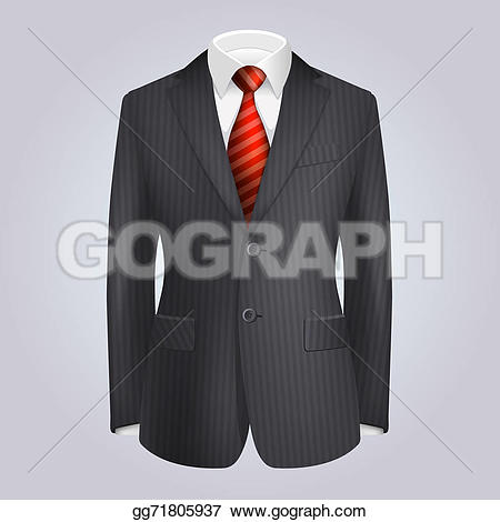 Tie clipart red clothes Tie with suit with Illustration