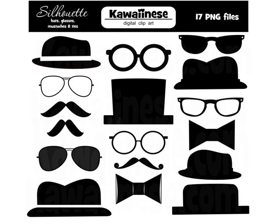 Tie clipart silhouette Mustache Art Clipart Day Father's