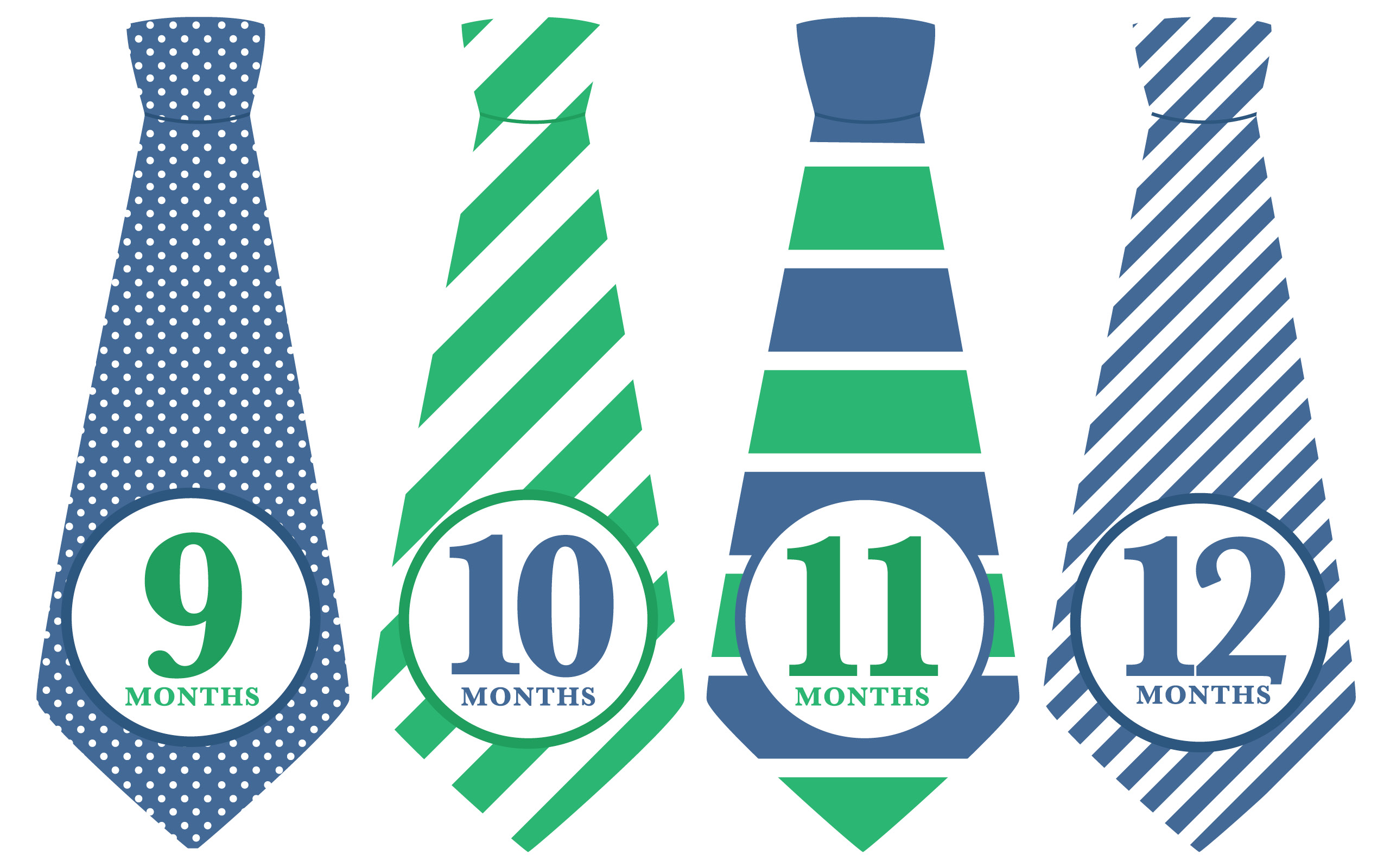 Tie clipart stripy Green  Striped Ties (Months