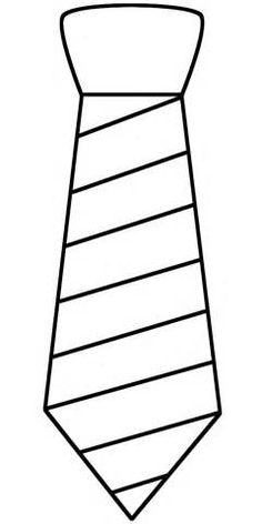 Tie clipart stripy Template these Coloring Printable Page