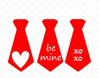 Tie clipart valentine Necktie File Download SVG Etsy