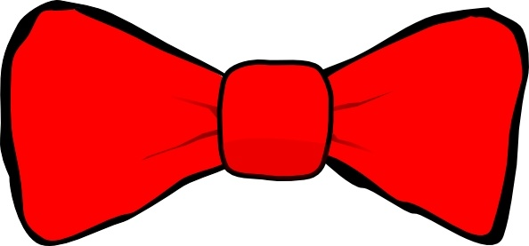 Drawn tie red bow Drawing ( Open Bow clip