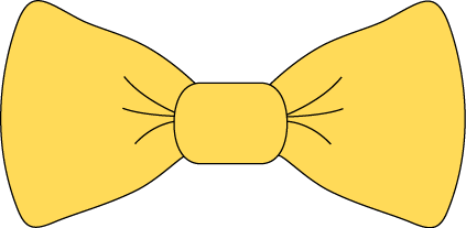 Yellow clipart bowtie Yellow Bow Tie Image Clip