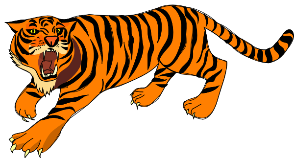 Tiger clipart Roaring Clip Inspiration and Art