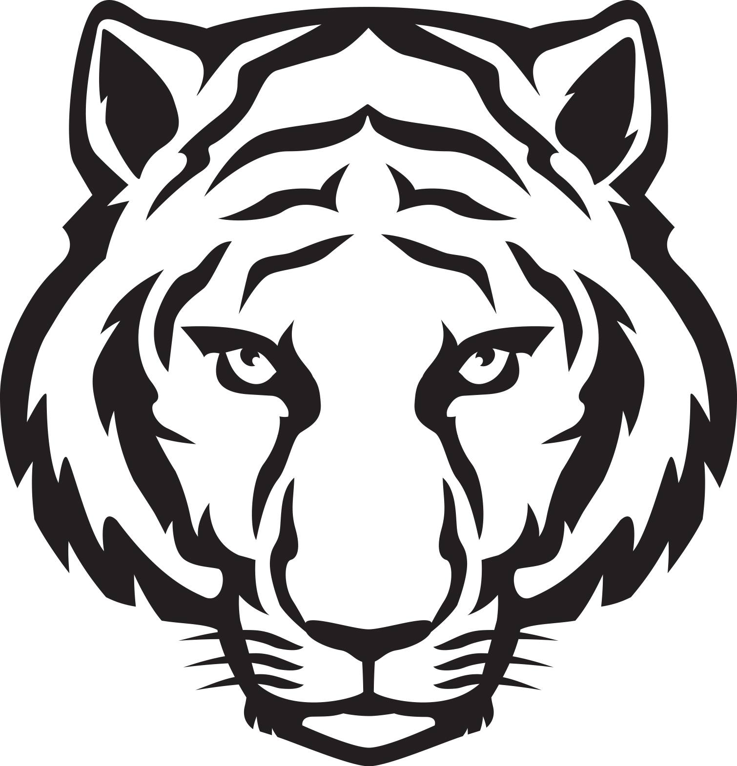 Templates  clipart tiger #2
