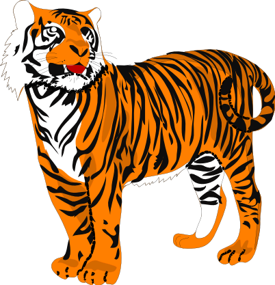 Moving clipart tiger #8