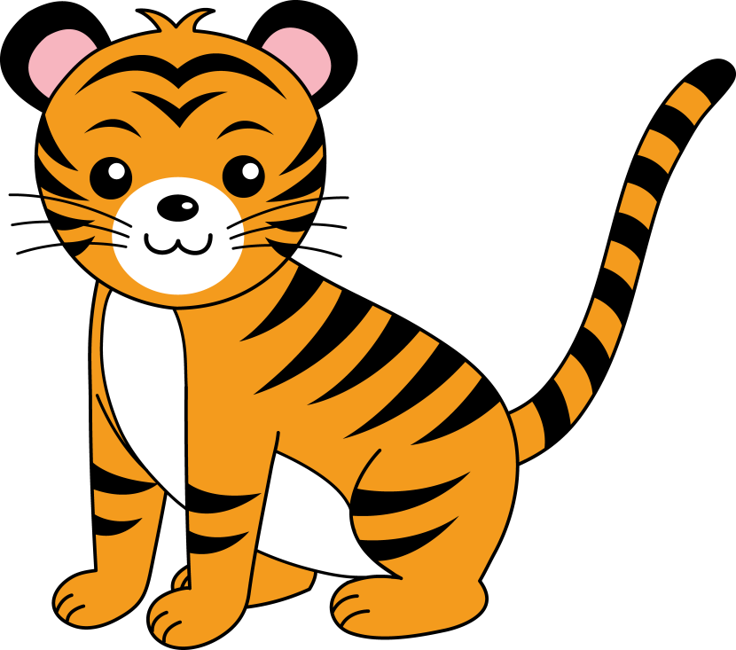Simple clipart tiger Cat cartoon 2 Baby clipart