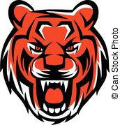 Tiger clipart angry #7