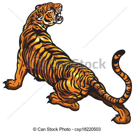 Tiger clipart angry #3