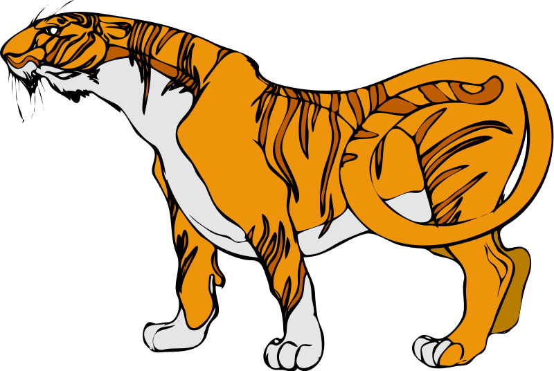 Animl clipart tiger Clipart Animated images #7333 image