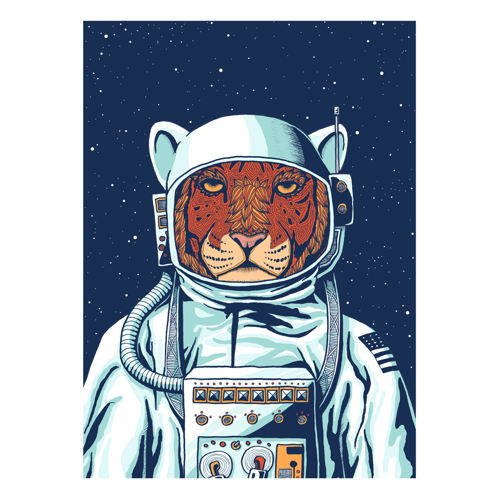 Tiiger clipart astronaut #8