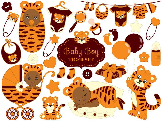 Tiger clipart baby boy #5