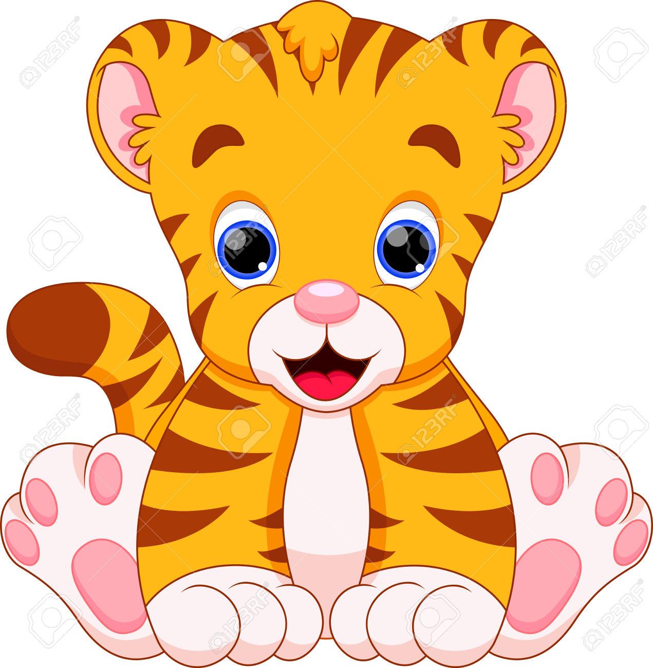 Tiger clipart baby boy #14