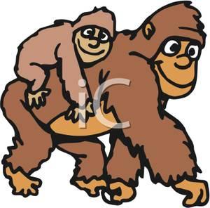 Tiiger clipart baby gorilla #3