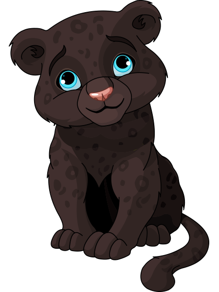Tiger clipart baby panther Panther cub and Panther Panther