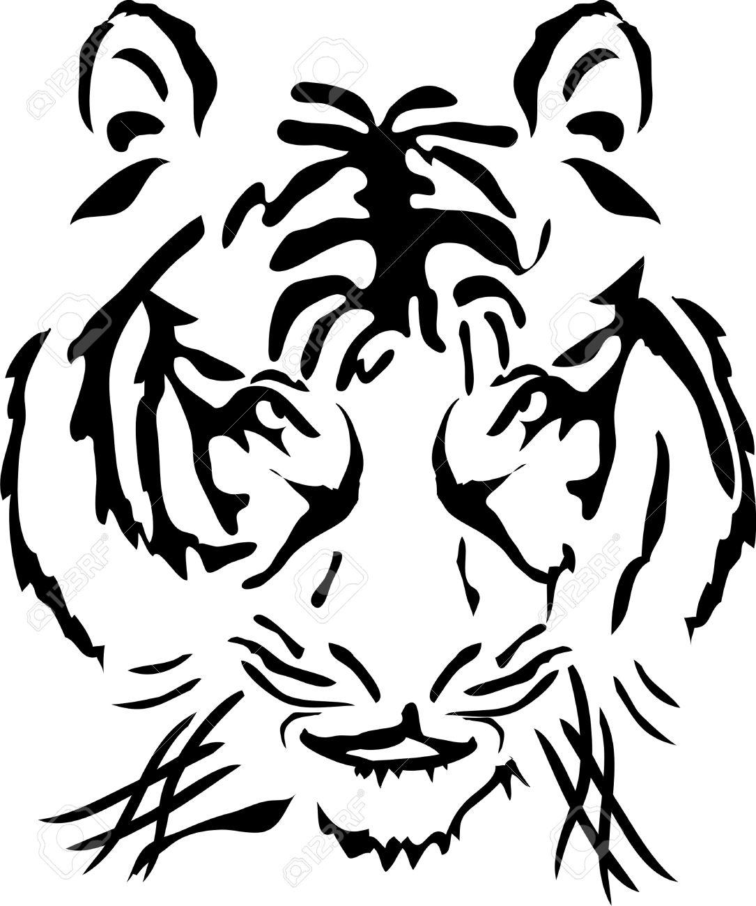 White Tiger clipart bengal tiger ClipartFan Tiger Bengal Black Vector