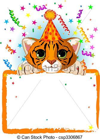 Tiiger clipart birthday #4