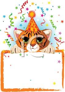 Tiiger clipart birthday #3