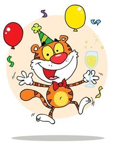 Tiiger clipart birthday #5