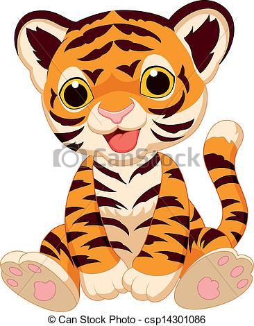 Tiger clipart cartoon #7