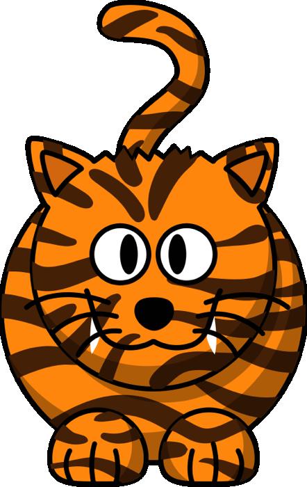 Tiger clipart cartoon #3