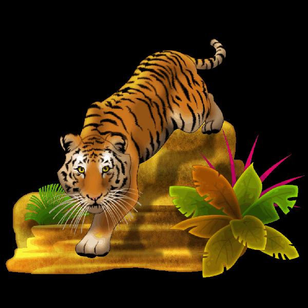 Tiger clipart cartoon #6