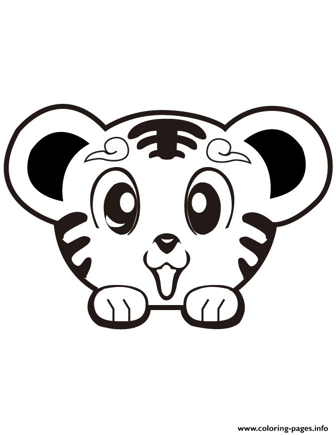 Tiiger clipart coloring book #15