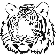 Tiiger clipart coloring book #10
