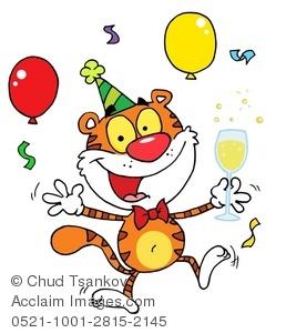 Tiger clipart drinking #5