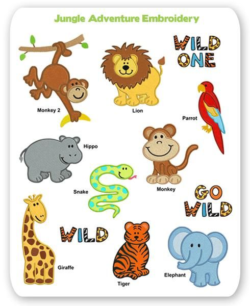 Zoo clipart lion tiger Embroidery coloring printables Kids on