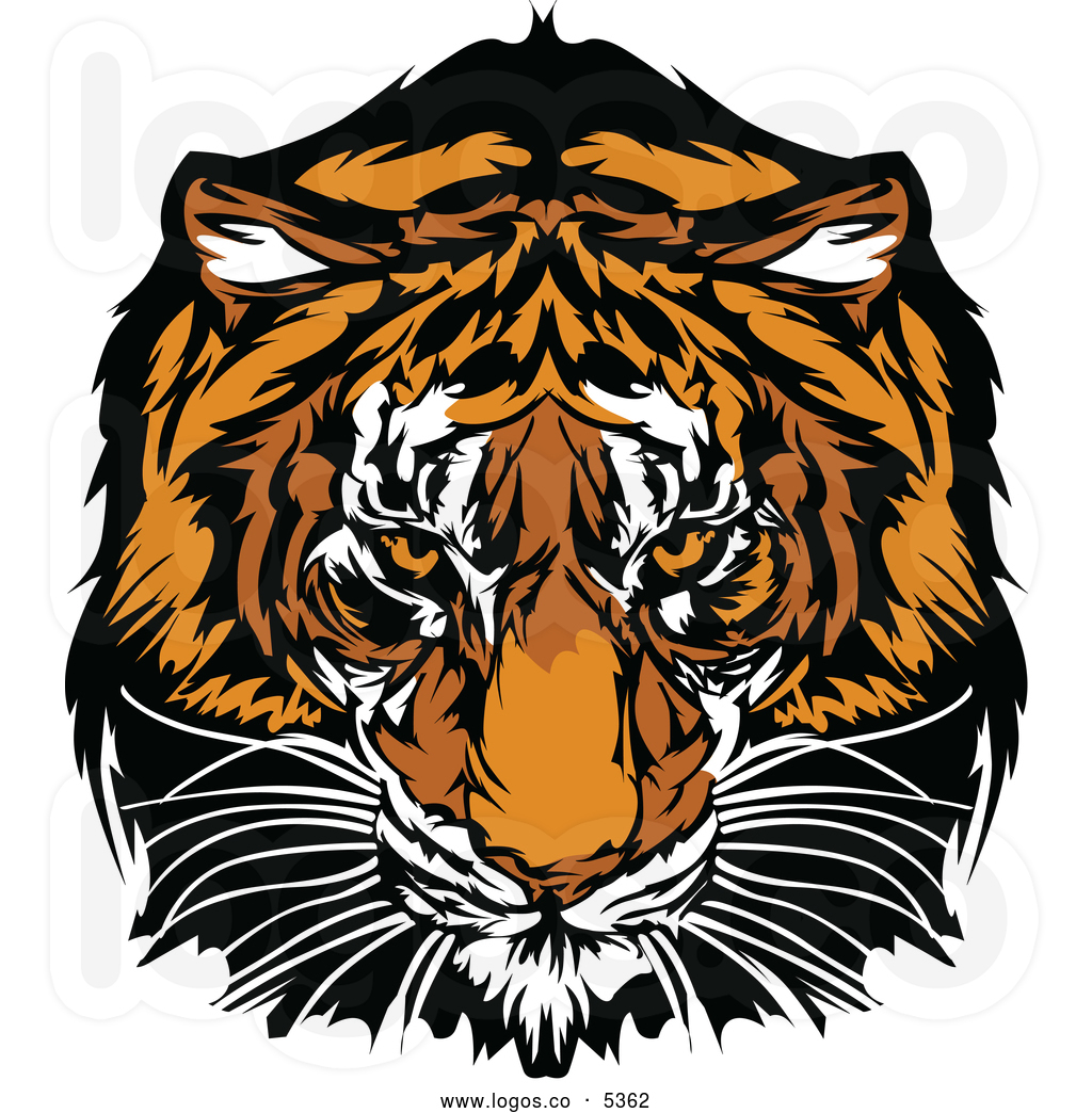 Tiger Print clipart bruin Of tiger vector  tiger