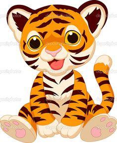Tigres clipart cute baby snake #1
