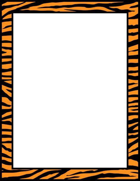 Tiger clipart frame #3